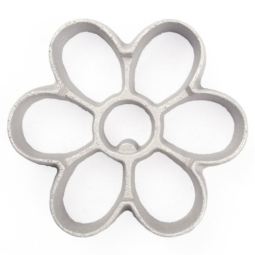 Kitchen Supply 7097 Rosette Bunuelos Cookie Mold, Medium Daisy Shape 3.4 x 0.5 Inches