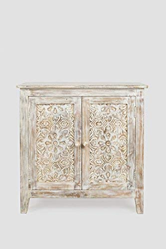Carved Wood Accents - Jofran Hand Carved Accent Chest