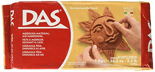 DAS Air-Hardening Modeling Clay, 2.2 Pound Block, Terra Cotta Color (387600)