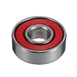 BephaMart 10pcs Red Sealed Deep Groove Skateboard Ball Bearing 608 2RS 8x22x7mm Shipped and Sold by BephaMart
