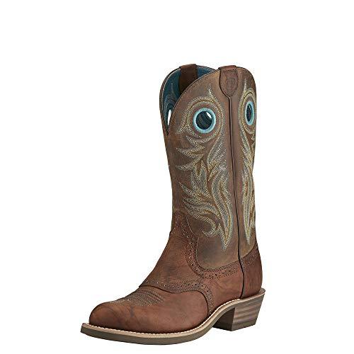 ARIAT Women's Shadow Rider Western Boot Bar Top Brown Size 7.5 B/Medium Us