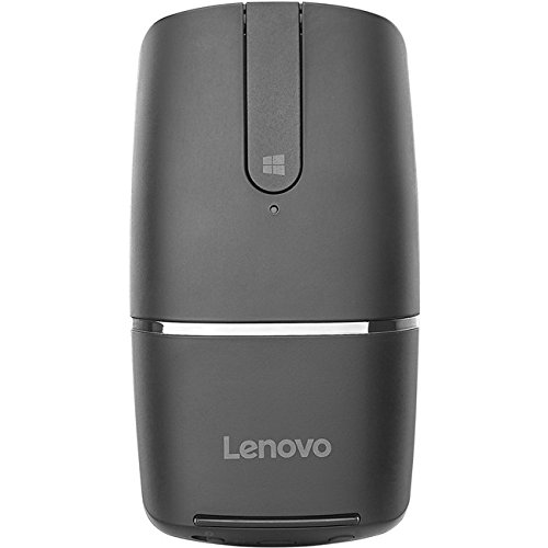 Dec Hinge (Lenovo Yoga Mouse, Black, Ultra slim 13.5mm, 180 degree rotatable hinge, 2.4G or Bluetooth 4.0 wireless connection, Multilayer adaptive touchpad, Rechargeable battery, GX30K69565)