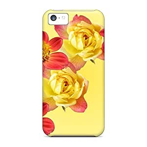 linJUN FENGiphone 6 4.7 inch Case Cover - Slim Fit Tpu Protector Shock Absorbent Case (flowers Hearts)