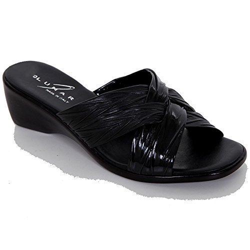 SAPHIR Damen Kleiner Keilabsatz Bequem Ohne Bügel Kreuz-riemen Damen Mode Sandalen Schuhe Schwarz