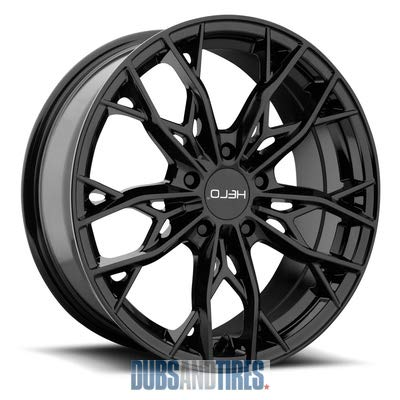 HELO HE907 Gloss Black Wheel Chromium (hexavalent compounds) (18 x 8. inches /5 x 72 mm, 40 mm - Rims Mazda 20