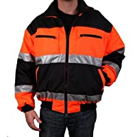 Safety Depot Reversible Jacket Class 2 ANSI Approved, Water Resistant, High Visibility Reflective Tape with Pockets… 9