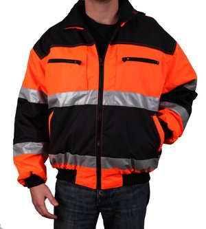 Safety Depot Reversible Jacket Class 2 ANSI Approved, Water Resistant, High Visibility Reflective Tape with Pockets… 1