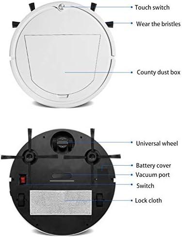 Qinlorgo Robot de Balayage Intelligent - Robot d\'aspirateur Intelligent de Charge USB - Machine de Balayage à Balayage Automatique - pour la Maison