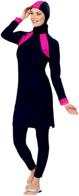 Damen Mädchen Muslimisch Islamisch Bademode Voll Hülle Nylon Badeanzug Burkini
