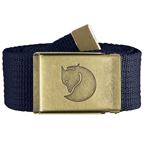 Taglia Unica Cintura Unisex-Adulto Dark Navy Fjallraven Canvas Brass Belt 4 cm