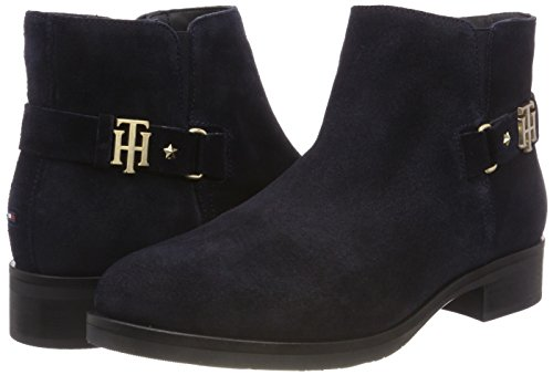 midnight Th Blue Buckle Ankle 403 Boots Suede Hilfiger Women''s Tommy Bootie 8t7ZwfEqzW