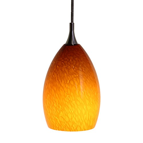 Direct-Lighting DPN-49219-AMBER 1-Light Mini Pendant Light, Amber Colored Glass (Colored Glass Pendant)