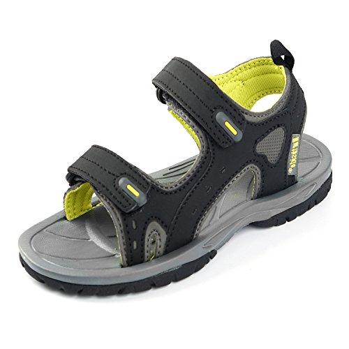 Northside Boys' Riverside II Sport Sandal, Black/Yellow, Size 12 M US Toddler