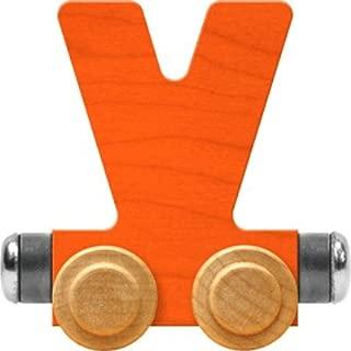 product image for Maple Landmark NameTrain Bright Letter Car V - Made in USA (Orange)
