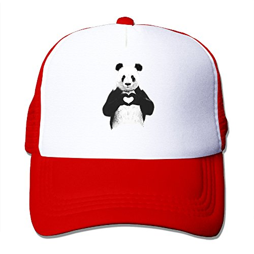 Price comparison product image Unisex Cool Panda Love Heart Snapback Hats Mesh Caps