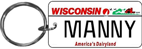 Personalized Wisconsin 2000 State Replica License Plate Keychain