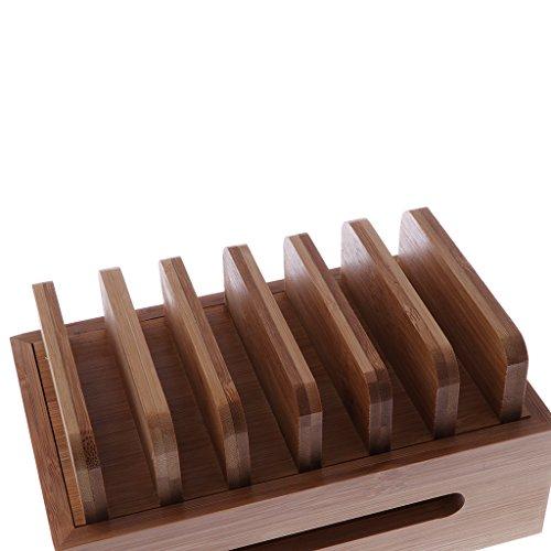 Homyl Bamboo Mobile Phone Holder Mount Station Wooden Desktop Tablet Dock Cradle by Homyl (Image #7)