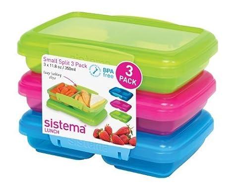 Sistema KLIP IT Split Food Storage Containers - Pack of 3 by Sistema (Sistema Klip It Split)