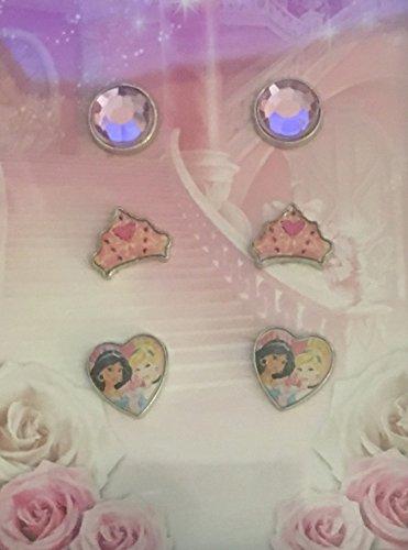 Disney Princess Jasmine & Cinderlla Earrings ~ 3 - Disney Princess Earrings