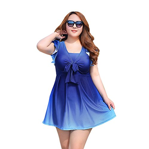 Zmart Women's One-Piece Plus Size Sexy Gradient Swimdress Bathing Suits