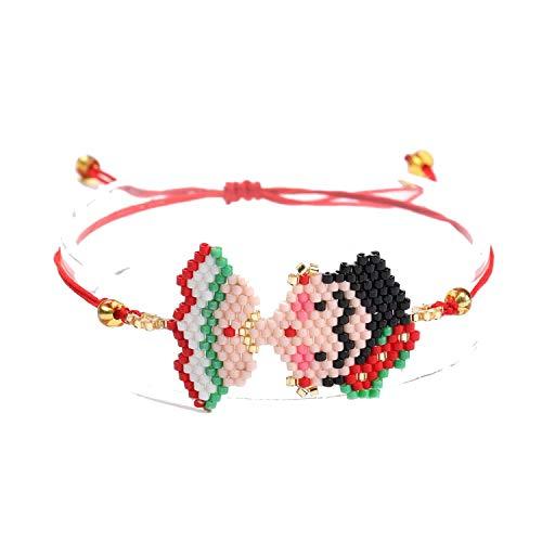 (Gold Hook Popular Flower Pendant Earrings Earring for Woman Girl Jewelry Gifts,Bracelet-Green)