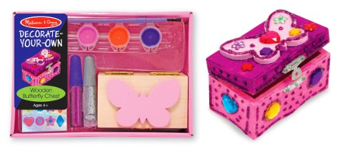 Melissa & Doug Wooden Butterfly Chest - Dyo