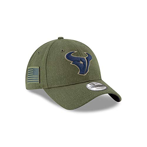 New Era Mens NFL 2018 Salute to Service 9Twenty Strapback Hat (Houston - Texans Hat Houston