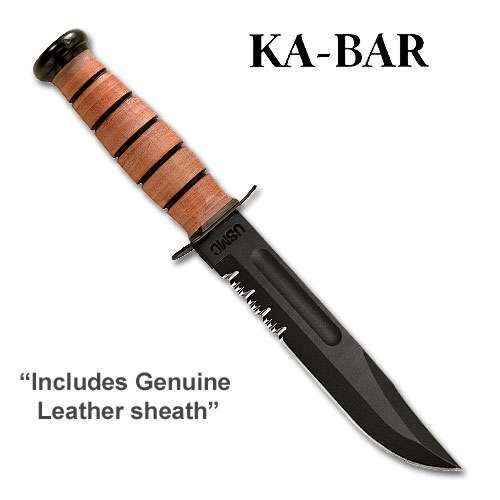 KA1218-BRK USMC Fighter Serrated for sale  Delivered anywhere in USA