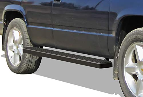 - APS iBoard Running Boards (Nerf Bars | Side Steps | Step Bars) for 1995-1999 GMC Chevy Tahoe/GMC Yukon Sport Utility 4-Door | (Black Powder Coated 5 inches)