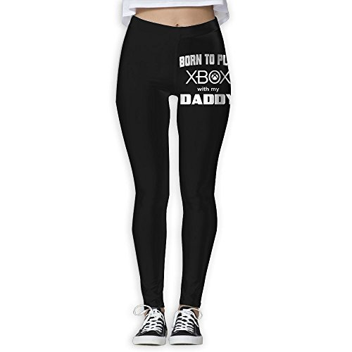 Price comparison product image Born To Play Xbox With Daddy Yoga Pants Performance Activewear Workout Leggings Sports Pants Size(S-XL)