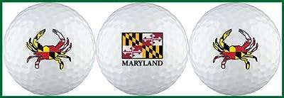 Maryland Flag Variety 2 Golf Ball Gift Set