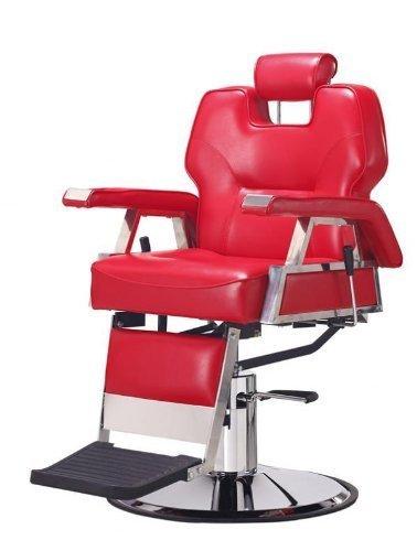 New Red Heavy Duty Hydraulic Recline Barber Chair Salon Beauty Shampoo 37R 1