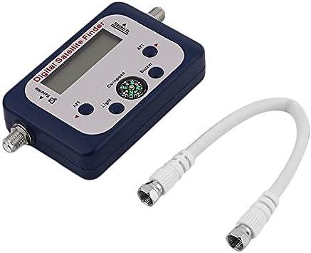 GSF-9506 Satfinder Digital con Pantalla LCD Televisor Universal Buscador de satélites medidor Probador de señal satelital: Amazon.es: Electrónica