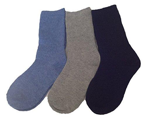 Boys Wool Winter Socks Toddler Kids Lambswool 3 pairs Various Sizes /& Colours
