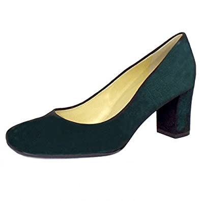 Ladies Bottle Green Court Shoes