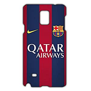 FC Barcelona Logo Phone Case for Samsung Galaxy Note 4 3D Hard Black Plastic Cover