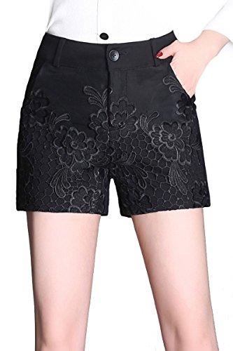 音求人百Tootess 婦人用夏の刺繍シフォンのハイウエストショートパンツ