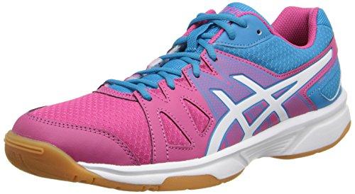 ASICS Women's Gel-Upcourt Tennis Shoe,Cabernet/White/Riviera Blue,10 M US