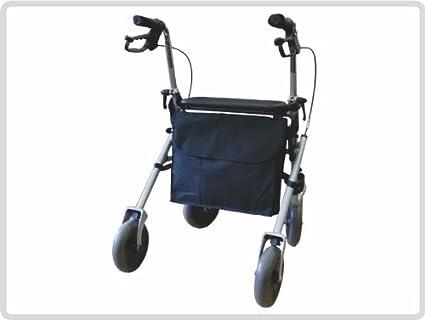 Andador con ruedas funda de piel con tapa, funda de piel con ...