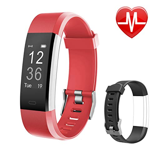 Letsfit Fitness Tracker HR, Activity Tracker Watch with Heart Rate Monitor, Pedometer, Sleep Monitor, 14 Sports Modes, Step Counter, Calorie Counter, IP67 Waterproof Fitness Watch for Kids Women -