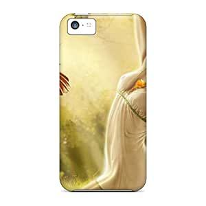 Fashionable HdN25646GITI Iphone 5c Cases Covers For Digital Fantasy Girl Art Protective Cases