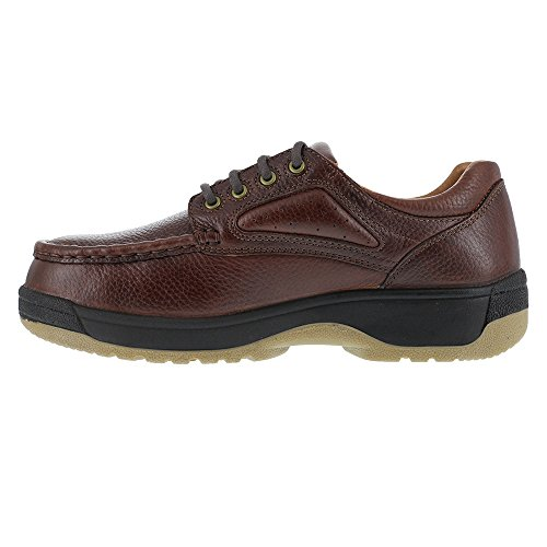 Steel Guard Brown Toe Leather Womens Dark Brown Met Florsheim Oxfords Compadre w0CpqfW4