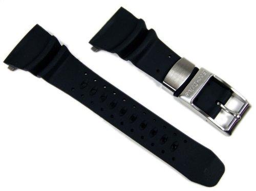 Citizen 59-S50342 Original Replacement Black Rubber Watch Band Strap fits BJ8050-08E BJ8051-05E S015791 S025648 S026547 S057892