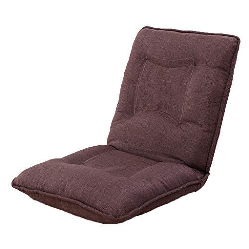怠惰な厚いソファ折りたたみ式コンピュータソファチェアバルコニーランチブレイクソファベッド5速調節可能な椅子多機能リクライニングチェア耐荷重120キログラム(カラー:ブラウン、サイズ:52 * 52 * 60 cm) B07SXVF3RD