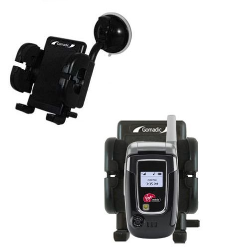 (Windshield Vehicle Mount Cradle suitable for the Audiovox Snapper 8915 - Flexible Gooseneck Holder with Suction Cup for Car / Auto.)