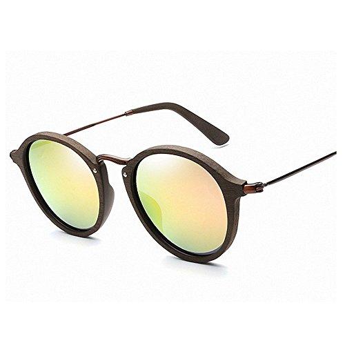 marco Retro sol hombres gafas de de madera de de los sol Gafas mujeres unisex colorida sol de Lente sol la Gafas de Gafas Rosado gato ojos c de sol de las de de para polarizadas del de protección UV Gafas la TzxwTZqr