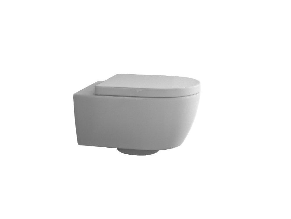 Suspendu Design WC toilette sans marge de Chasse avec abattant de WC avec syst/ème dabaissement automatique Softclose amovible