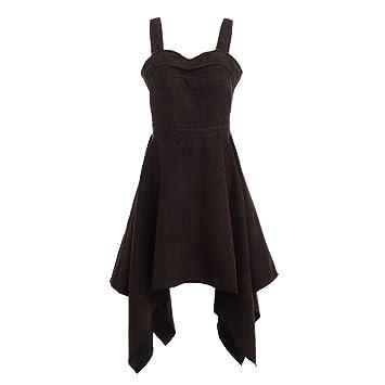 GRACEART Mujer Steampunk Gótico Falda Corte Irregular Vestido (L ...