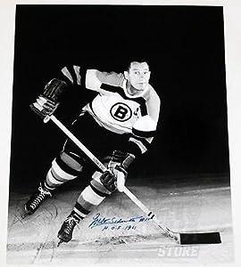 Milt Schmidt Boston Bruins Signed Autographed HOF 1961 Inscribed 16x20