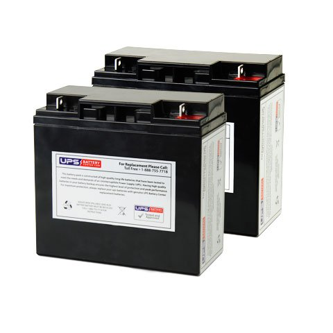 (2) 12V 22Ah NB - Fresh Stock compatible battery set for Merits Health Products P320 Wheelchair by UPSBatteryCenter